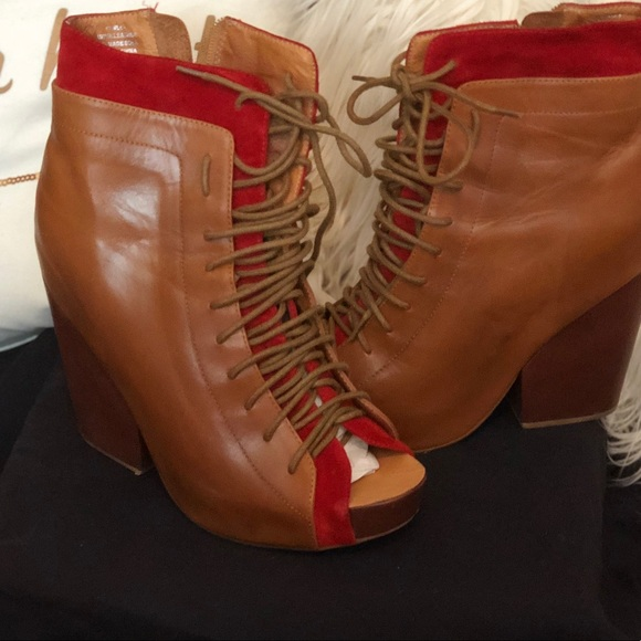 13beb2fb265 Jeffrey Campbell Peep Toe Booties